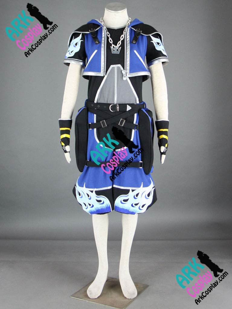 Kingdom Hearts Sora Cosplay Blue Mens Kingdom Hearts Cosplay Costume