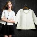 Европа 2015 осень новых женских пальто и темперамент тяжелая ногтей шарик семь целых рукав куртки прилив