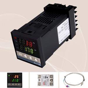 Image 3 - Neue Alarm REX C100 110V zu 240V 0 zu 1300 Grad Digital PID Temperatur Controller Kits mit K Typ sonde Sensor
