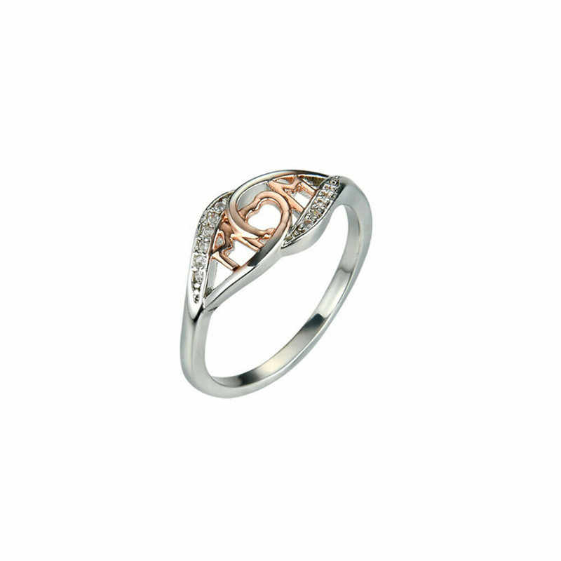 Trendy Fashion Pretty Women Natural Aquamarine 925 Silver Ring Mom Wedding Engagement Size 6-10 Rose Gold And Gold