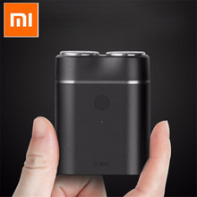 원래 Youpin Mijia Zhibai 홈 전기 면도기 남자 방수 습식 드라이 면도 더블 링 블레이드 USB 충전식 면도기