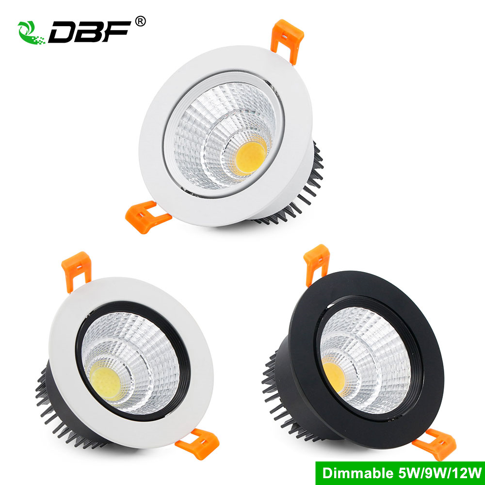 [DBF]Super Bright Epistar COB LED Recessed Downlight Dimmable 5W 9W 12W 3000K/4000K/6000K LED Ceiling Spot Lamp Indoor Lighting[DBF]Super Bright Epistar COB LED Recessed Downlight Dimmable 5W 9W 12W 3000K/4000K/6000K LED Ceiling Spot Lamp Indoor Lighting
