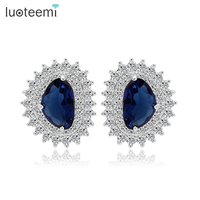 Teemi 2015 New Fashion Sexy Lady Luxury CZ Micro Pave Wholesale Korean Stud Earrings For
