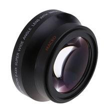 Новый 67 мм Широкий формат Объективы для фотоаппаратов макро объектив 0.43x с передней линзы Кепки сзади Кепки объектива для Nikon D80 d90 D5000 D7000