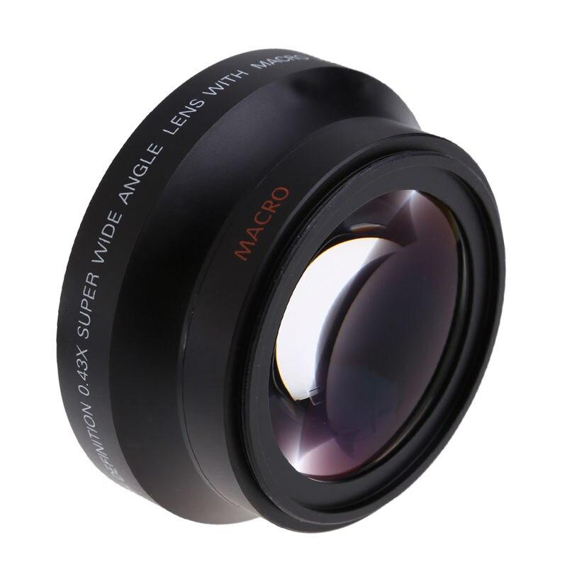 New 67mm Wide Angle Camera Lens Macro Conversion Lens 0.43x with Front Lens Cap Rear Cap Lens Bag for Nikon D80 D90 D5000 D7000