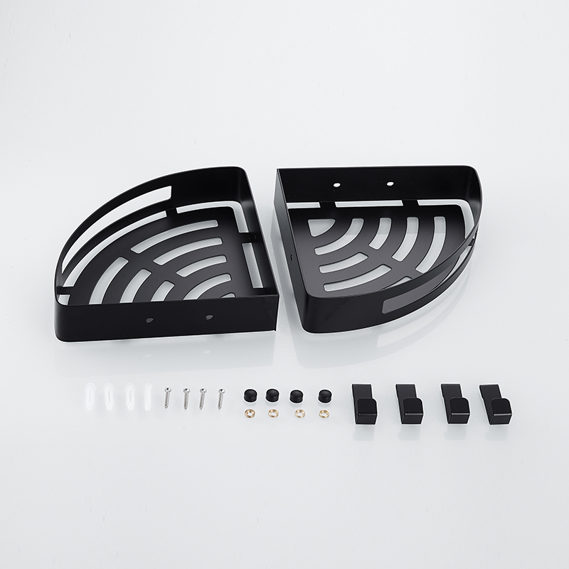 Exceptional Genial Antike Eckregal Badezimmer Regale Aluminium Lagerregal Raum  Aluminium Bad Regal Schwarz Regale Mit Haken HL