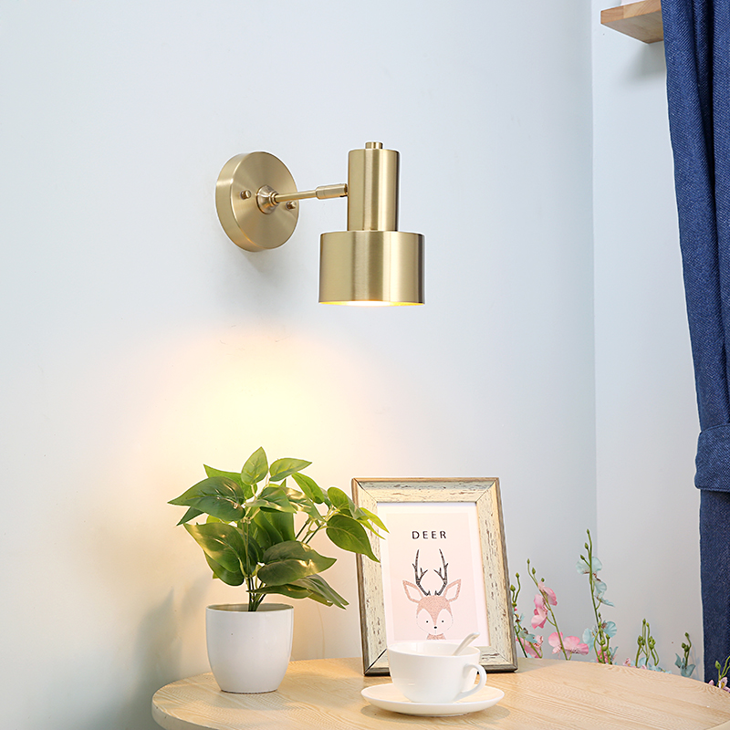 Modern Nordic LED Wall Lights Fixtures Brass Copper Living Room Bathroom Light Mirror Vintage Wall Sconce Beside LampModern Nordic LED Wall Lights Fixtures Brass Copper Living Room Bathroom Light Mirror Vintage Wall Sconce Beside Lamp