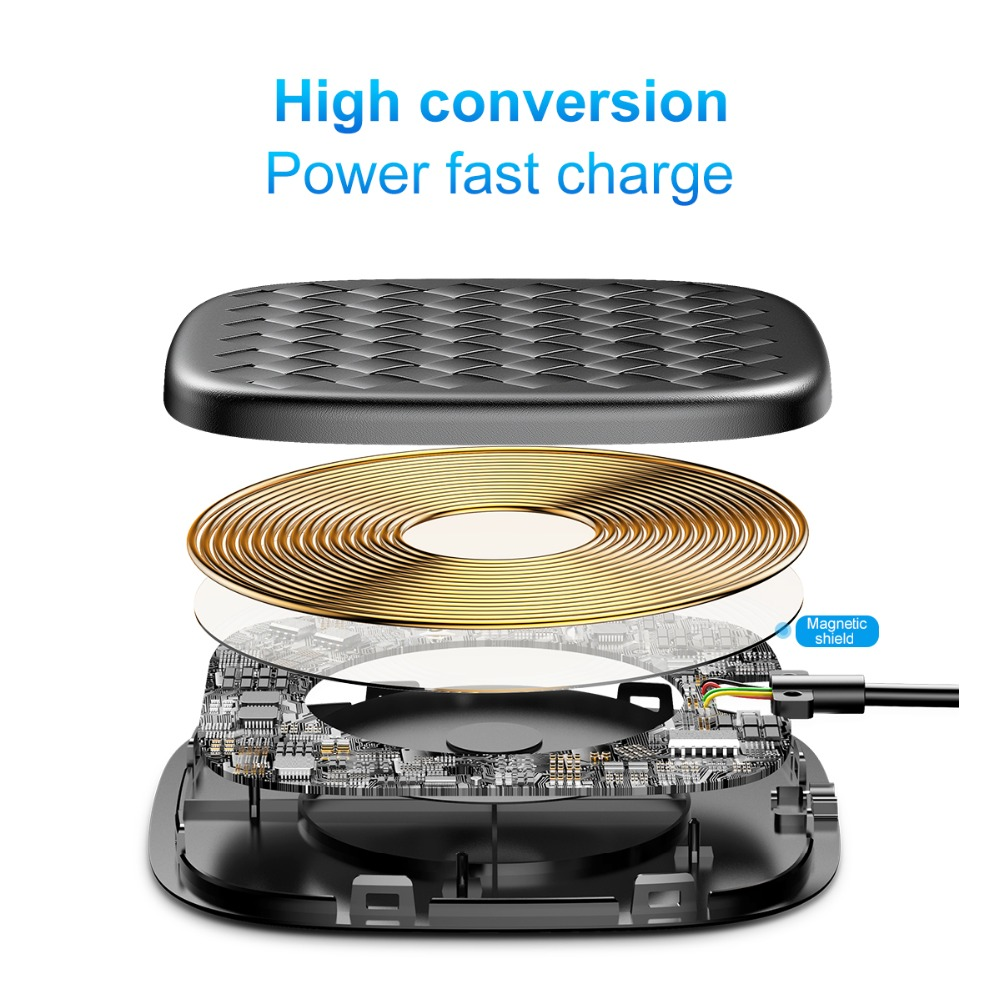 Wireless Charger 10W - Portable QC 3.0 Universal Wireless Fast Charger 5