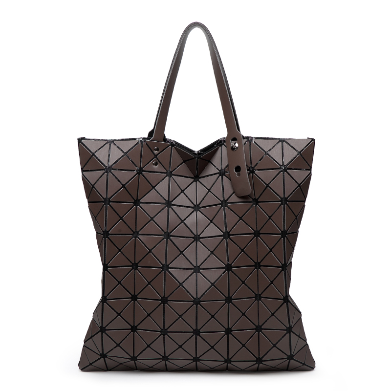 bao bao women matte colors bag laser sac tote bags 8 8 geometry quilted shoulder bag fold over. Black Bedroom Furniture Sets. Home Design Ideas