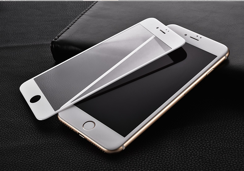 0 26mm For iphone 7 tempered glass Glossy Carbon Fiber 3D Curved Edge Coated Glass on For iPhone 7 7Plus Screen Protector Film in Phone Screen Protectors from Cellphones Telecommunications