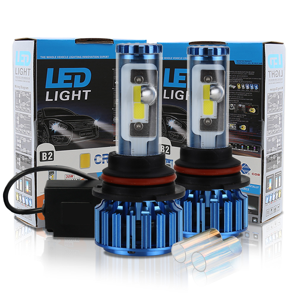 Conquer 60W High beam LED High Power 9004 HB1 High Low Beam Car Led Headlight Kit  Auto Hi/lo Bulbs Replacement Canbus Headlamp one set 9004 cree led headlight conversion kit high low beam hb2 auto car moto car styling led headlamp driving lamp bulbs white