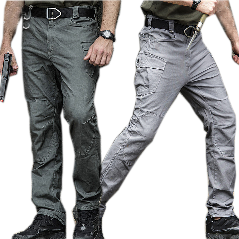 New2019 Men Tactical Pants Stretchy Full Length Trousers 100% cotton Comfortable multi pockets commuter Training pants leggings