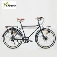 Новый бренд углерода Сталь Рамки Ретро Велосипедный Спорт 21 Скорость 26 дюймов колеса двойной дисковый тормоз велосипед Открытый Уличный