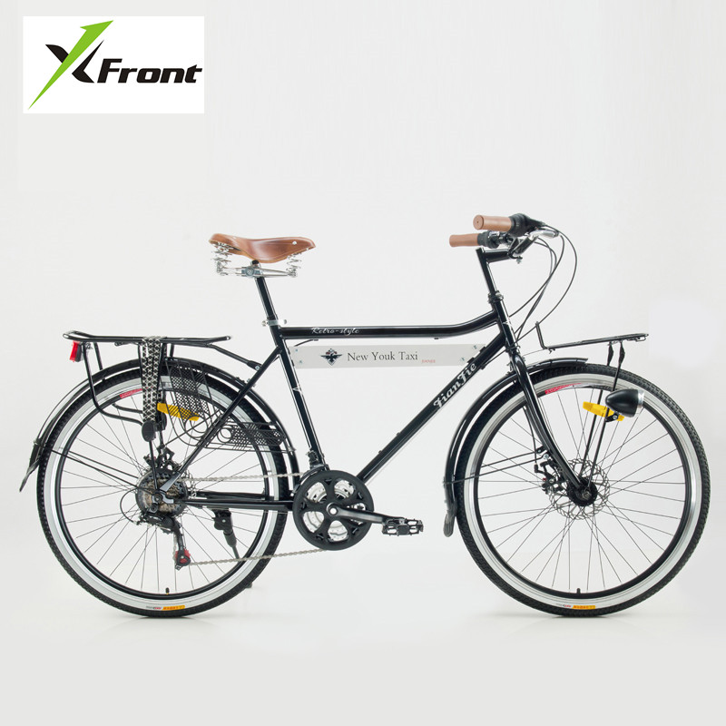 New Brand Carbon Steel Frame Retro Bicycle 21 Speed 26 inch Wheel Dual Disc Brake Bike Outdoor Street Bicicleta