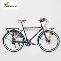 New Brand Carbon Steel Frame Retro Bicycle 21 Speed 26 Inch Wheel Dual Disc Brake Bike