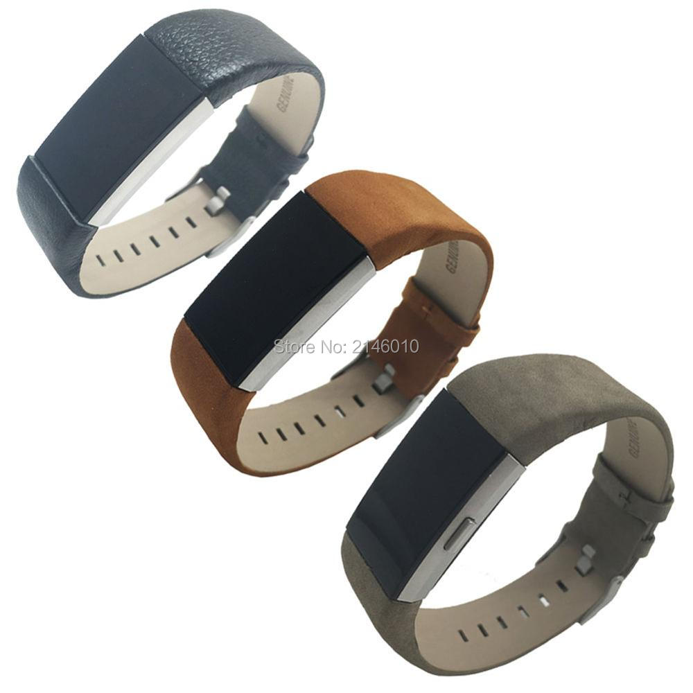 replacement genuine leather band for fitbit charge 2 wristband strap bracelet in watchbands from. Black Bedroom Furniture Sets. Home Design Ideas