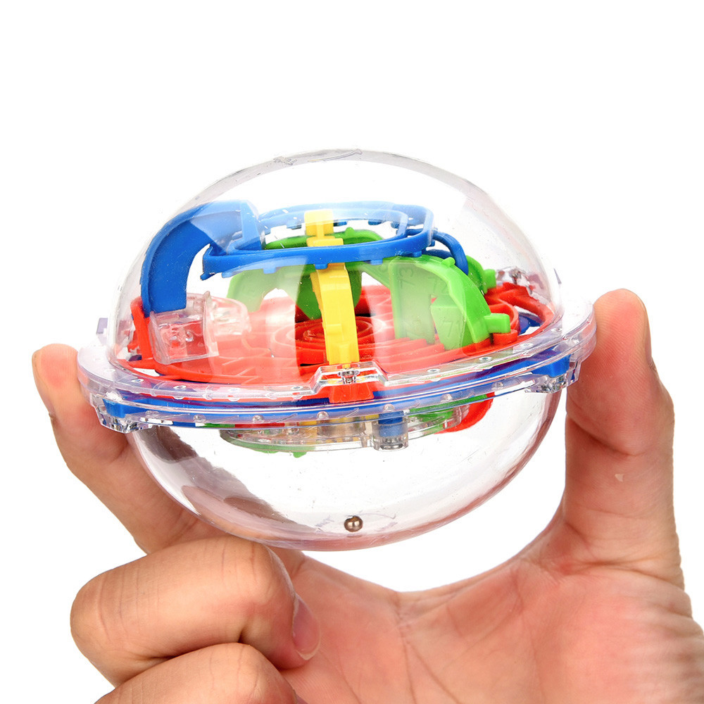 HIINST 2017 75 Barriers Mini Ball Maze Intellect 3d Puzzle Toy Balance Barrier Magic Labyrinth Spherical Dropship Y7912