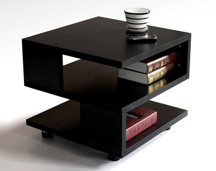Living room side tables modern for Modern living room no coffee table