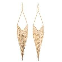 Vintage Geometric Triangle Tassel Long Earrings For Women Fashion Statement Elegant Earring Jewelry Bijoux цены онлайн