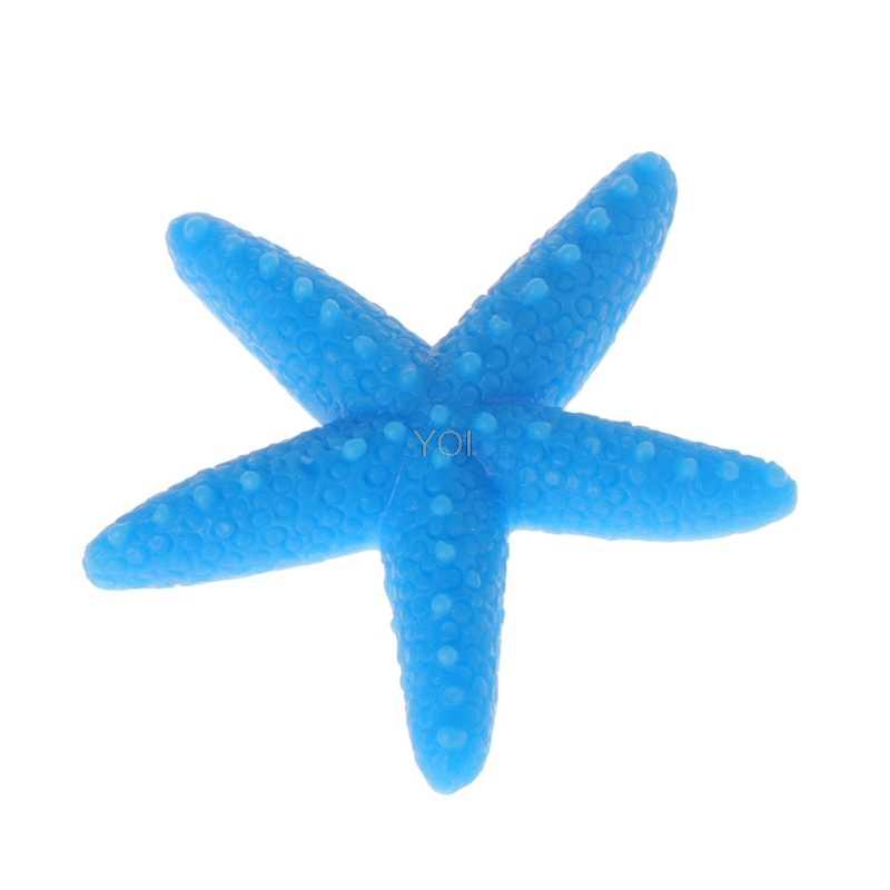 5pcs Fish Tank Artificial Colorful Starfish Decoration Aquarium Ornaments Resin