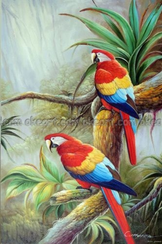 Aliexpress Com Buy 100 Hand Painted Wild Parrot Pair