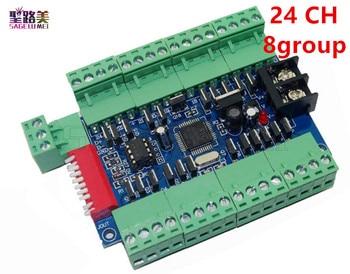 1 pièces 24CH 24 canaux 3A/CH 8 groupe facile DMX LED décodeur, contrôleur, variateur, lecteur pour DC12-24V LED s ruban à LED Modules