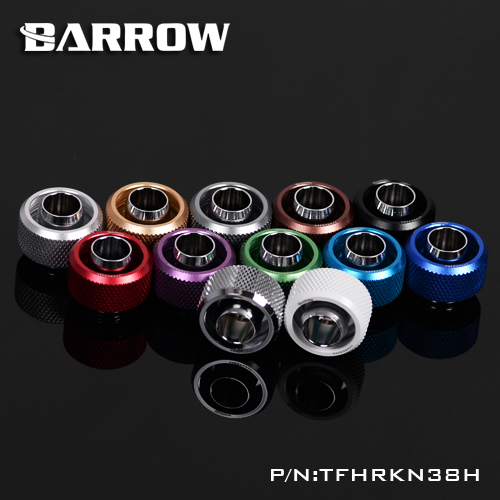 Barrow Color G1 /4 3/8ID X 5/8OD 10 X 16mm tubing hand Compression fittings water cooling fitting TFHRKN38H barrow white black silver g1 4 3 8id x 1 2od 9 5 x 12 7mm tubing hand compression fittings water cooling fitting thkn 3 8 b03