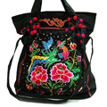 New 2017 fashion national trend handmade embroidery shoulder bag messenger bag canvas bag