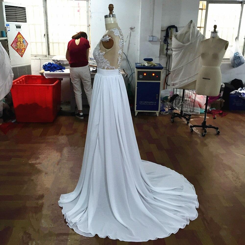 2a8eceb9012 Милая Кружева Свадебные платья Оболочка кнопку назад Высокое качество  доступным свадебное платье