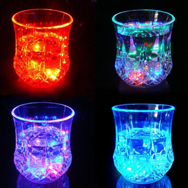 Colorful LED Glowing Glass