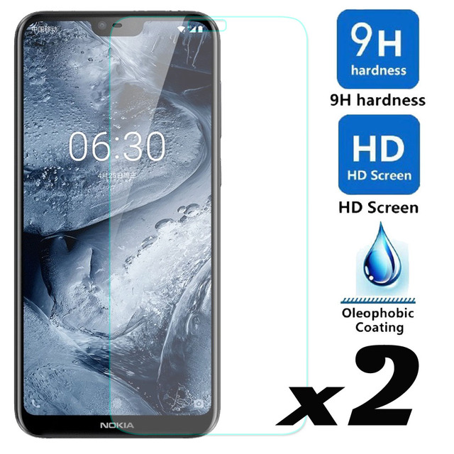 elegaming 2 x 9H HD Tempered Glass Screen Protector Explosion-proof Bubble Nokia