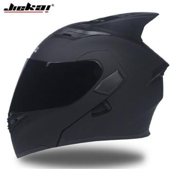 JIEKAI Motorcycle Helmet Men Moto Helmet With Sun Visor Inside Moto Equipment Double Lens Racing Cascos Helmets DOT