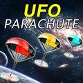 La luz del Flash de la Mano Que Lanza Velocidad Paracaídas Soldado Deportes Al Aire Libre Para Niños Juegos Para Niños Jugar UFO Juguetes Deportes AO # P