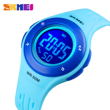 SKMEI Waterproof Children Watch Boys Girls LED Digital Sports Watches Plastic Kids Alarm Date Casual Watch Select Gift for kids