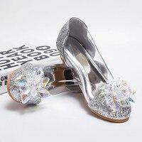 Summer 2017 Children Princess Sandals Kids Girls Wedding Shoes High Heels Dress Shoes Party Shoes For