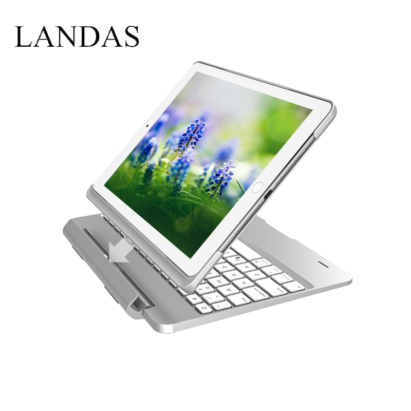Landas USB Backlit Keyboard For iPad Pro 9.7 2018 Slot Cover For iPad 9.7 New 2017 Wireless Keyboard Bluetooth For Air 2 Tablet bluetooth v2 0 wireless 78 key keyboard for ipad ipad 2 the new ipad white silver