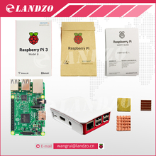 B Raspberry Pi 3 Starter Kit с Raspberry Pi 3 Модель B + оригинальный pi 3 чехол + Радиаторы пэ3 b/pi 3b с wi-fi и bluetooth