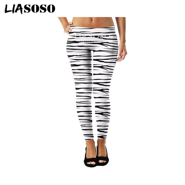 cc4f6574fd4 LIASOSO Sexy Fashion Womens Leggings High Stretch 3D Print Scottish plaid  Cute Funny Casual Rock Hip-hop Fitness Pants A068-01