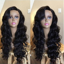 Hot Sexy 130% Glueless Full Lace Wig Brazilian Virgin Hair Front Lace Wig Free Shipping Natural Color