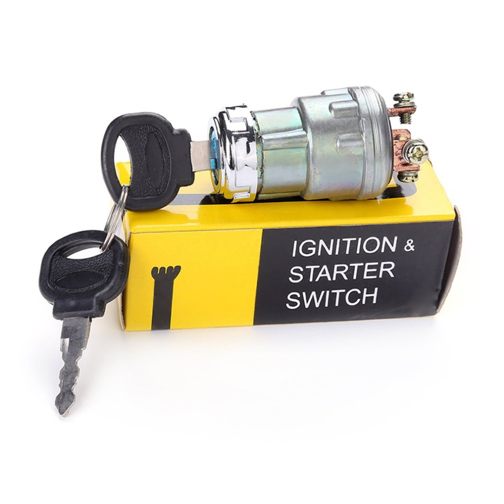 Car Boat 12V 4 Position Ignition Starter Switch With 2 Keys For Petrol Engine Farm Machines Harvesters Supplies