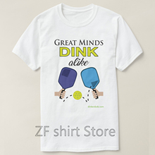 7d0e54d03 Fashion Cool Men T shirt Women Funny tshirt great minds dink alike pickleball  shirts Short Sleeve