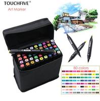 TouchFIVE 36 40 60 80 Colors Drawing Marker Pen Animation Sketch Art Markers Set For Artist