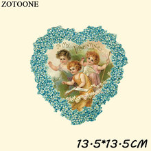 ZOTOONE Ironing Stickers for Clothes Cute Heat Transfers Patches Angel Appliqued DIY Sew on Badge C