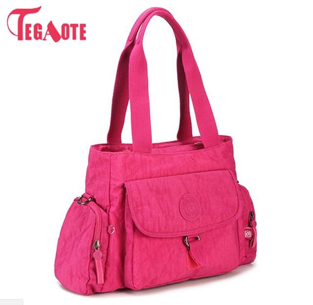 TEGAOTE Original Nylon Impermeável Bolsa Multifuncionais Zipper Das Mulheres De Luxo Bolsa de Ombro Tote Bag Messenger Bag Bolsas Sac 962