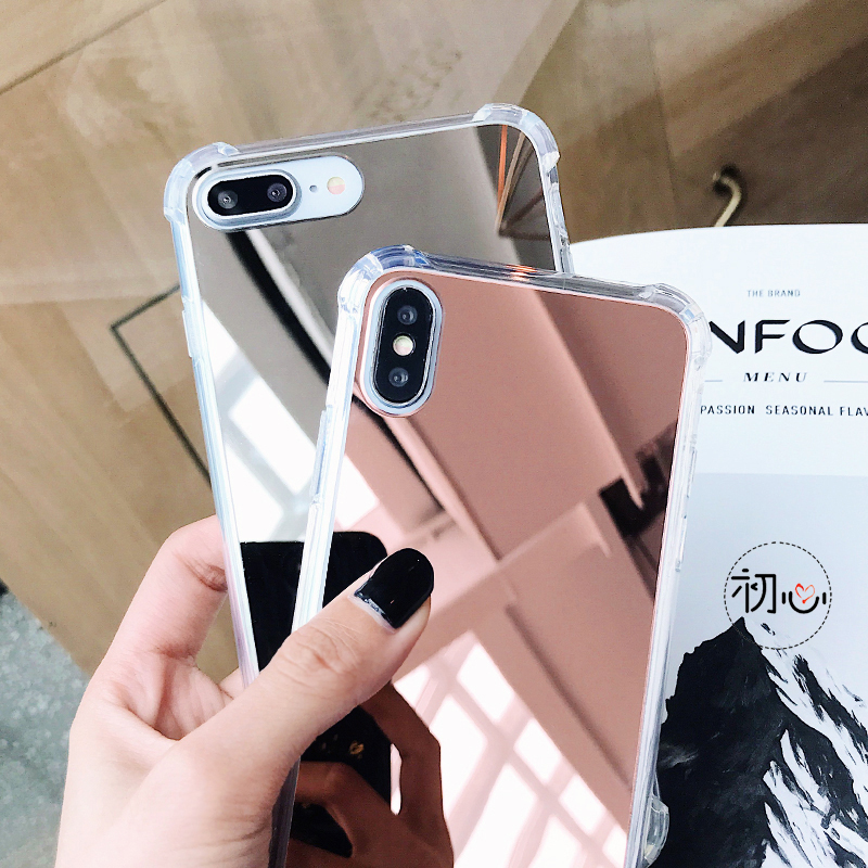 Airbag Mirror Acrylic Iphone 6 S 6S 7 7S Iphone 8 Plus X 10 XS Max XR 6Plus 6Splus 7Plus 8Plus Drop Proof Cover