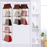ROSEHOME 1 Pc 16 40 135cm Hanging Storage Bag For Totes Wardrobe Closet Non Woven Purse