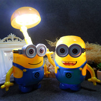 Creative Small Yellow Folding Energy Saving LED Lamp Eye Study Bedroom Bedside Room With Piggy Rechargeable