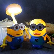 Minions Novelty Baymax Cartoon LED Night Light Baby Room Kids Bed Lamp Sleeping USB Night Lamp Decoration Table Lamp