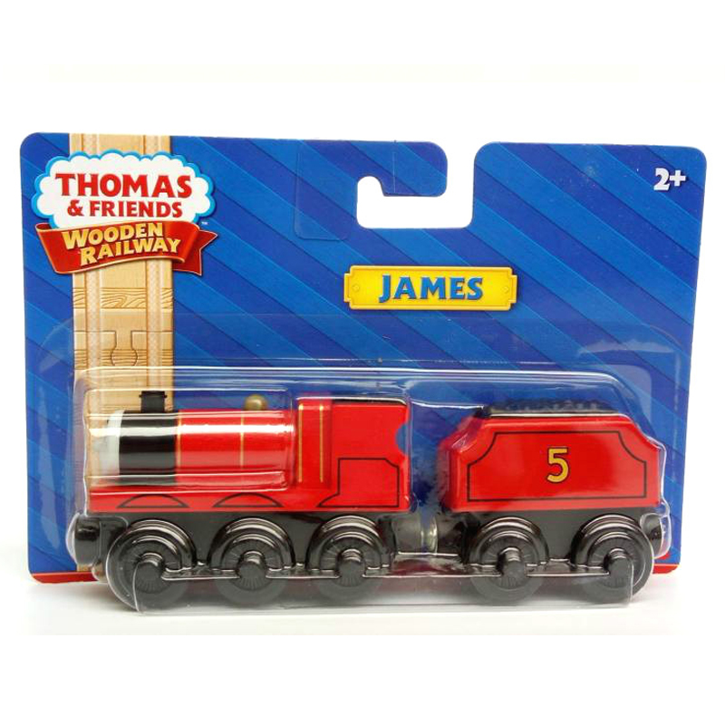 w75 Thomas and friends Wooden magnetic locomotive James + Trailer kids Orbital toys boutique gift box FIT Thomas track Brio