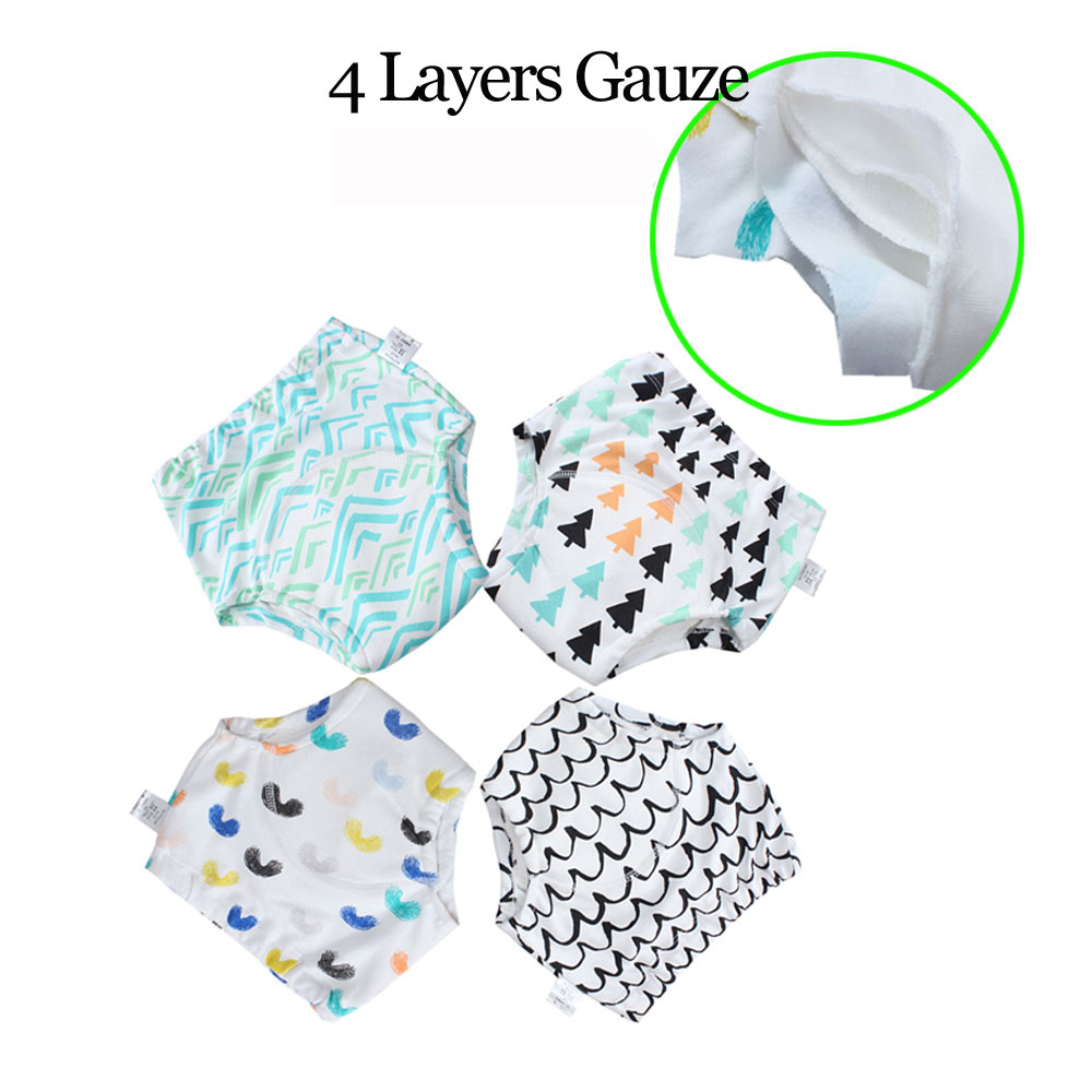 Babyfriend 20 Pcs Washable Baby Training Pants 4 Layers Gauze Toilet Potty Training Pants Cotton Waterproof Training Panties